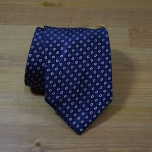 BRIONI Navy Geometric Hand made Silk Neck Tie 240
